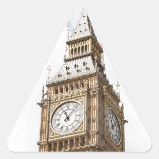 Big Ben Londres Pegatina Triangular