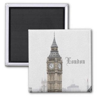 Big Ben Londres (Watercolour) Imán Cuadrado