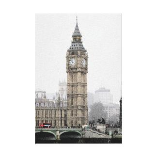 Big Ben Londres (Watercolour) Lona Estirada Galerías