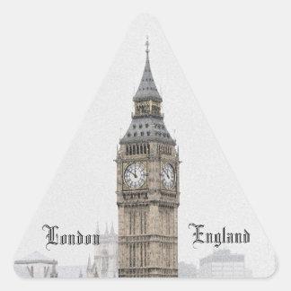Big Ben Londres (Watercolour) Pegatina Triangular