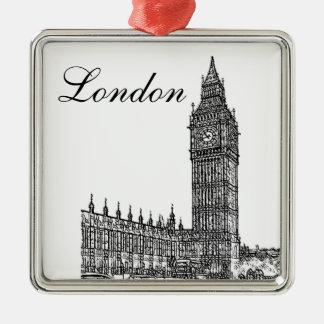 Big Ben Metal Ornament