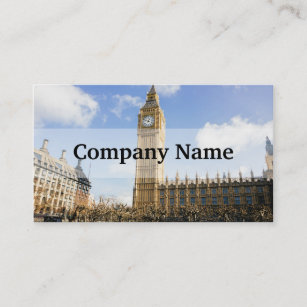 London travel business cards zazzle big ben on a sunny day london uk business card reheart Choice Image