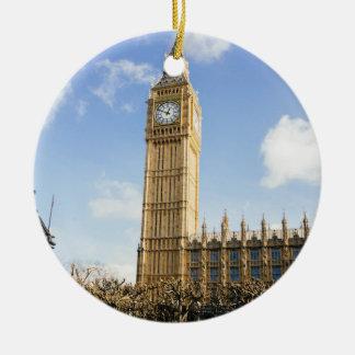 Big Ben On A Sunny Day, London UK Ceramic Ornament