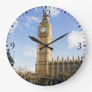 Big Ben On A Sunny Day, London UK Large Clock