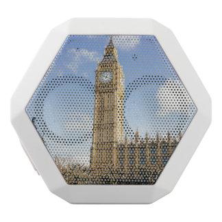 Big Ben On A Sunny Day, London UK White Bluetooth Speaker