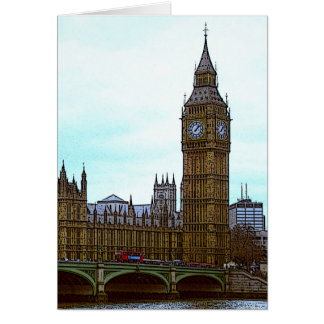 Big Ben, Palace of Westminster, London, UK Card