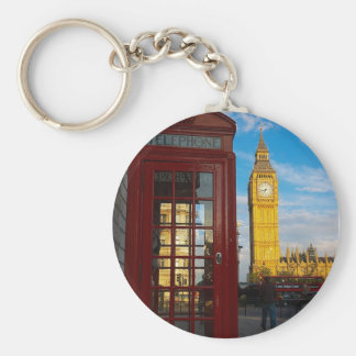 Big Ben & Phone Box Basic Round Button Keychain