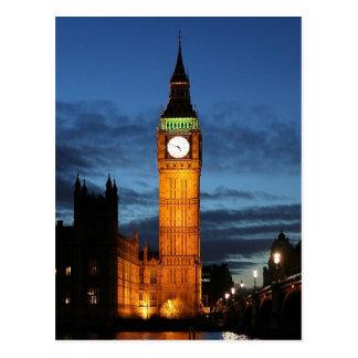 Big Ben por noche Tarjeta Postal