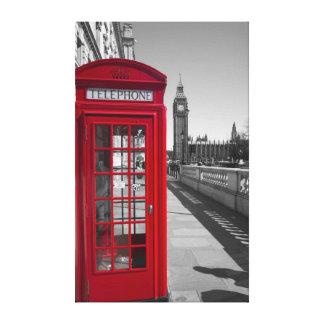 Big Ben Red Telephone box Canvas Print