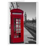 Big Ben Red Telephone box Card