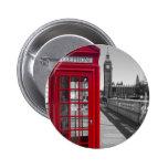 Big Ben Red Telephone box Pinback Button