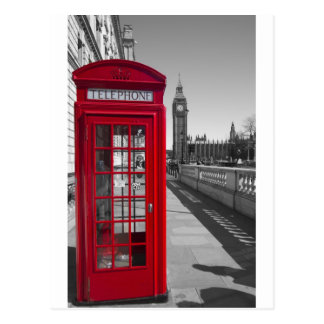 Big Ben Red Telephone box Post Cards