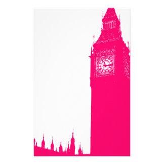 Big Ben rosado eléctrico Papeleria De Diseño