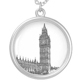 Big Ben Round Pendant Necklace