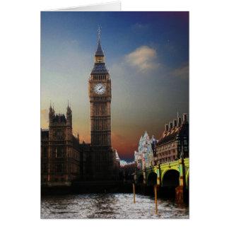 Big Ben Solarised de Londres Tarjeta De Felicitación