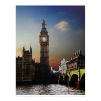 Big Ben Solarised de Londres Tarjetas Postales