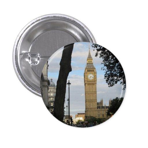 Big Ben Through the Tree Buttons