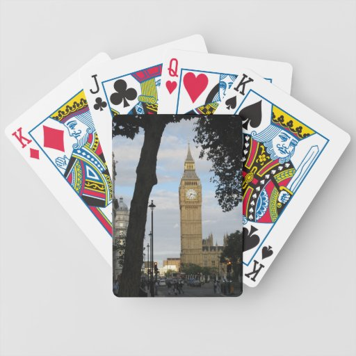Big Ben Through the Trees Playing Cards