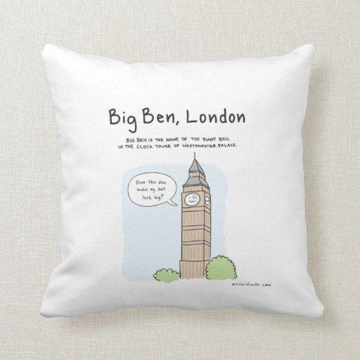 How Big Should Throw Pillows Be : Big Ben Throw Pillow Zazzle
