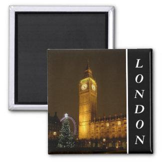 Big Ben ticks Goodnight 2 Inch Square Magnet
