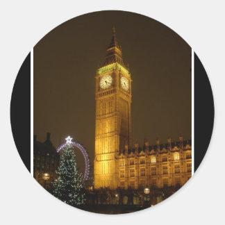Big Ben ticks Goodnight Classic Round Sticker