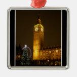 Big Ben ticks Goodnight Metal Ornament