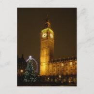 Big Ben ticks Goodnight Post Card