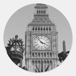 Big Ben Tower Classic Round Sticker