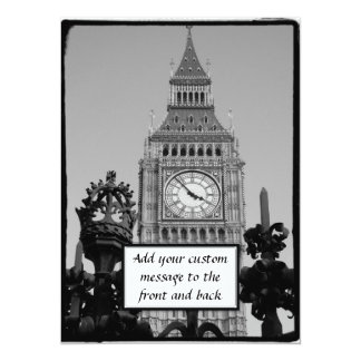 Big Ben Tower Custom Invite