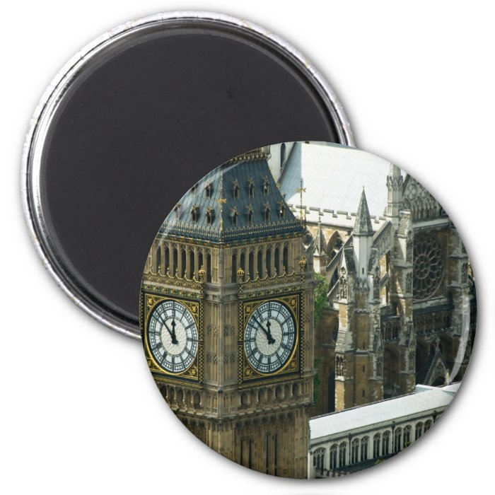 Big Ben Tower London 2 Inch Round Magnet