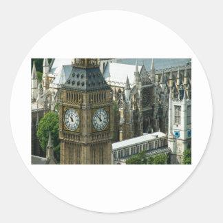 Big Ben Tower London Classic Round Sticker