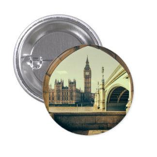 Big Ben Under The Arch, London UK. Pinback Button