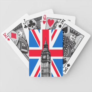 Big Ben Union Jack London England Playing Cards