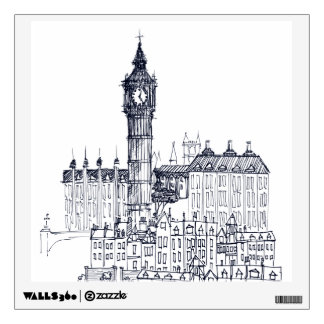 big ben wall decals wall stickers zazzle