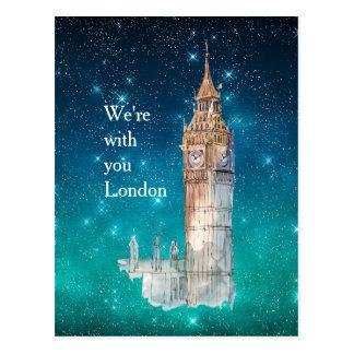 Big Ben Watercolor London Solidarity Postcard