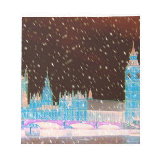 Big Ben Westminster Abbey London Red Skies Notepad