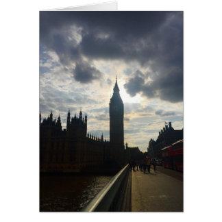 Big Ben Westminster London United Kingdom Sunset Card