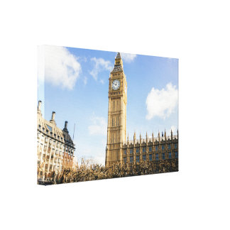 Big Ben Westminster Side View Canvas Print