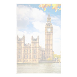 Big Ben With Autumn Leaves, London Stationery
