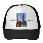 Big Ben y cabina de teléfonos roja en Londres Gorros Bordados