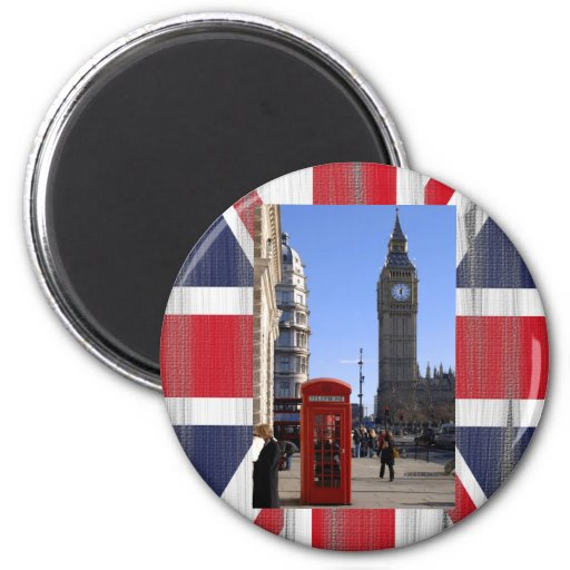 Big Ben y cabina de teléfonos roja en Londres Imán De Frigorífico