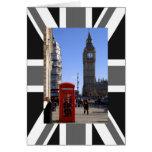 Big Ben y cabina de teléfonos roja en Londres Tarjetas
