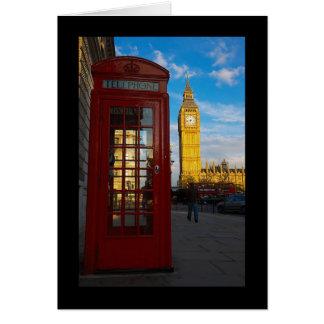 Big Ben y caja del teléfono Tarjeta De Felicitación