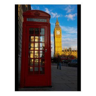 Big Ben y caja del teléfono Tarjetas Postales