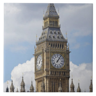 Big Ben y casas del parlamento, Londres, Azulejo Cuadrado Grande