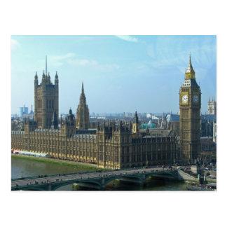 Big Ben y casas del parlamento - Londres Postales