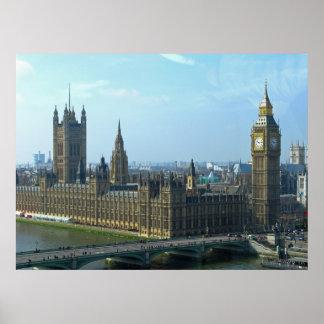Big Ben y casas del parlamento - Londres Póster