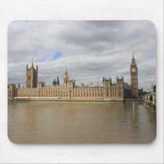 Big Ben y casas del parlamento - Londres Tapetes De Ratones
