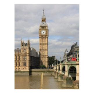 Big Ben y casas del parlamento - Londres Postal