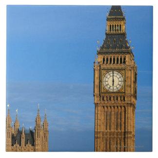 Big Ben y edificio del parlamento Azulejo Cuadrado Grande